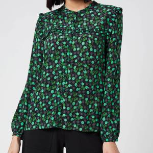 Whistles Women's Floral Printed Top - Green/Multi