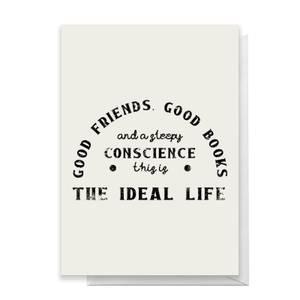 Good Friends Good Books Greetings Card
