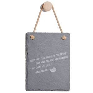 Never Doubt The Courage Of The French Engraved Slate Memo Board - Portrait