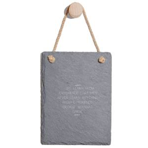 We Learn From Experiences Engraved Slate Memo Board - Portrait