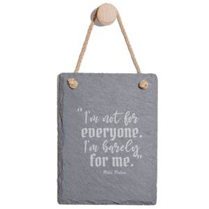 I'm Not For Everyone Engraved Slate Memo Board - Portrait