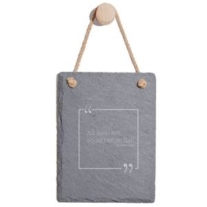 All Men Are Equal Before Fish Engraved Slate Memo Board - Portrait