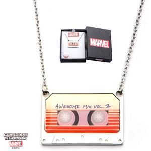 Marvel Guardianes de la Galaxia Awesome Mix Vol. 2 Collar colgante de cinta