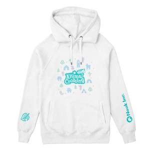 Nintendo Animal Crossing New Horizons Unisex Hoodie - White