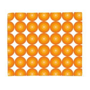 60s Orange Pattern Fleece Blanket