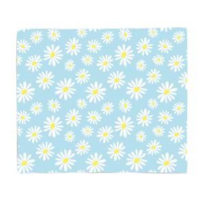 60s Daisy Print Fleece Blanket
