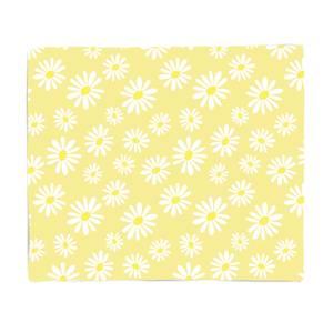 60s Yellow Daisy Fleece Blanket