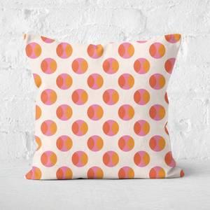 Orange And Pink Pattern Square Cushion