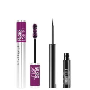 Maybelline The Falsies Instant Lash Lift Look Mascara and Tattoo Eye Liner Gel Pencil Set