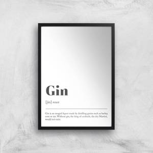 Gin Definition Giclee Art Print