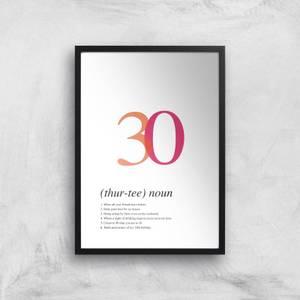 Age 30 Giclee Art Print