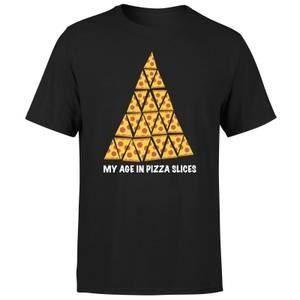 25th Birthday In Pizza Men's T-Shirt - Black