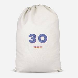 30th Birthday Cotton Storage Bag