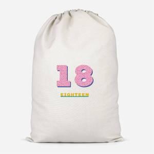 18th Birthday Cotton Storage Bag