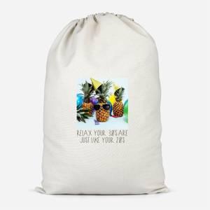 30th Birthday Pineapple Cotton Storage Bag