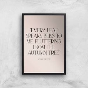 Every Leaf Speaks Bliss To Me, Fluttering From The Autumn Tree Giclee Art Print