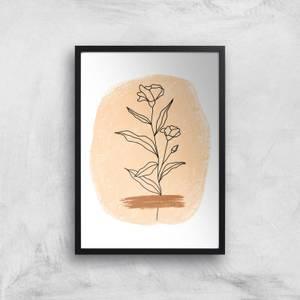 Hand Drawn Flower Giclee Art Print