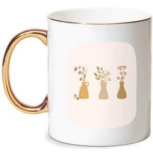 Vases Bone China Gold Handle Mug