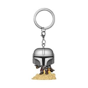 Star Wars The Mandalorian The Mandalorian with Blaster Pop! Keychain