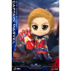 Hot Toys Cosbaby Marvel Avengers Endgame (Size S) - Captain Marvel (with Nano Gauntlet Version)