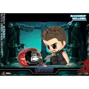 Hot Toys Cosbaby Marvel Avengers Endgame (Size S) - Tony Stark (with Iron Man helmet Version)