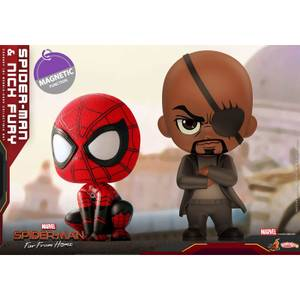 Hot Toys Cosbaby - Spider-Man: Far From Home (Size S) - Spider-Man & Nick Fury (Set of 2)