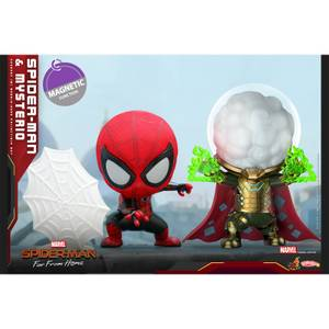 Hot Toys Cosbaby Marvel Spider-Man: Far From Home (Size S) - Spider-Man (Web Shooting Version) & Mysterio (Set of 2)