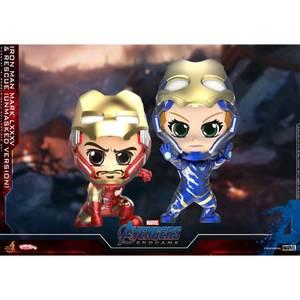 Hot Toys Cosbaby Marvel Avengers Endgame (Size S) - Iron Man Mark 85 & Rescue (Mask Open Version) (Set of 2)