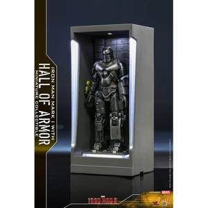 Hot Toys Marvel Miniature Figure: Iron Man 3 - Iron Man Mark 1 (with Hall of Armor)
