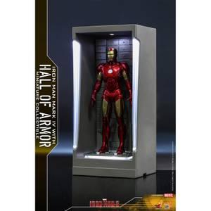 Hot Toys Marvel Miniature Figure: Iron Man 3 - Iron Man Mark 4 (with Hall of Armor)