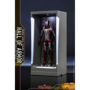 Hot Toys Marvel Miniature Figure: Iron Man 3 - Iron Man Mark 5 (with Hall of Armor)