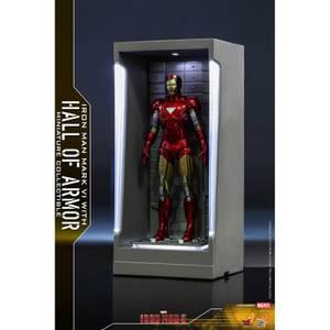 Hot Toys Movie Masterpiece Compact - Miniature Figure: Iron Man 3 - Iron Man Mark 6 (with Hall of Armor)