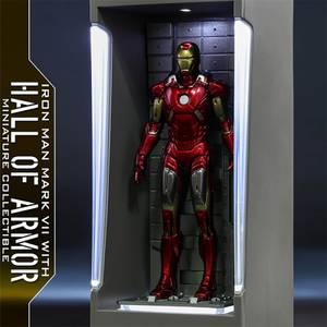 Hot Toys Movie Masterpiece Compact - Miniature Figure: Iron Man 3 - Iron Man Mark 7 (with Hall of Armor)