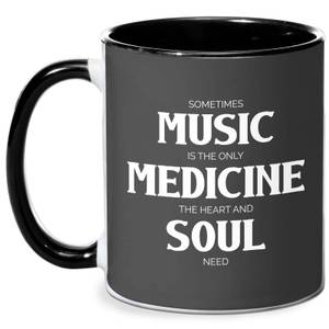 Sometimes Music Is The Only Medicine The Heart And Soul Need Mug - White/Black
