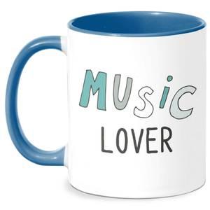 Music Lover Mug - White/Blue