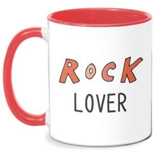 Rock Lover Mug - White/Red