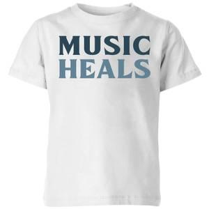 Music Heals Kids' T-Shirt - White