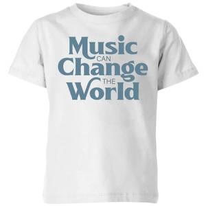 Music Can Change The World Kids' T-Shirt - White