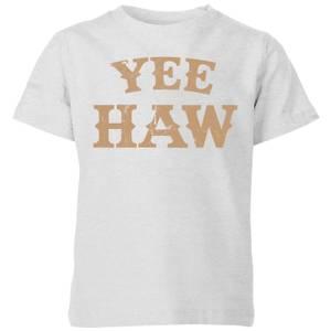 Yee Haw Kids' T-Shirt - Grey
