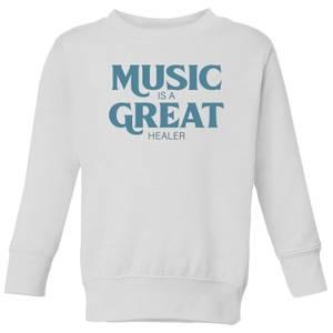 Music Is A Great Healer Kids' Sweatshirt - White