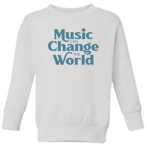 Music Can Change The World Kids' Sweatshirt - White