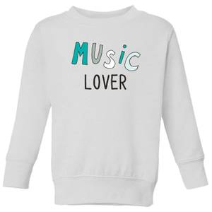 Music Lover Kids' Sweatshirt - White