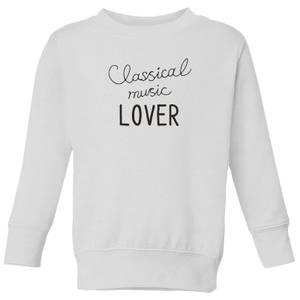 Classical Music Lover Kids' Sweatshirt - White