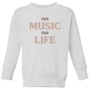 No Music No Life Kids' Sweatshirt - White