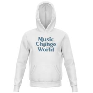 Music Can Change The World Kids' Hoodie - White