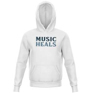 Music Heals Kids' Hoodie - White