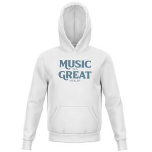 Music Is A Great Healer Kids' Hoodie - White