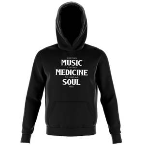 Sometimes Music Is The Only Medicine The Heart And Soul Need Kids' Hoodie - Black