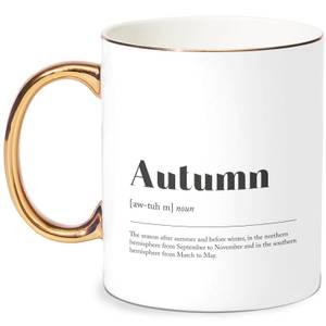 Autumn Definition Bone China Gold Handle Mug