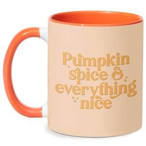 Pumpkin Spice & Everything Nice Mug - White/Orange